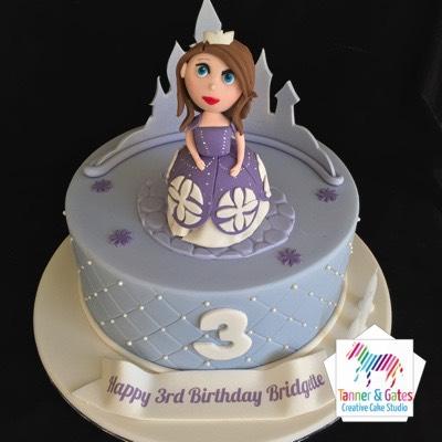 Sophia 1st Cake Wonder Woman Single Tier